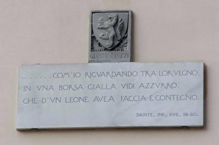 73-via-tornabuoni-lapide-infcanto-xviii-stemma-dei-gianfigliazzi