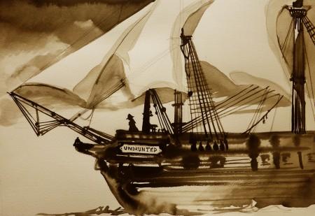 210-quadro-dellarrivo-della-fregata-inglese-con-napoleone-allelba
